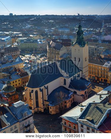Lviv city day landscape. Ukraine