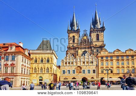 Prague, Czech Republic-september 12, 2015: Main Building Of The National Museum In Prague.czech Repu