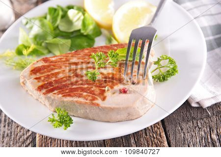 grilledfish steak
