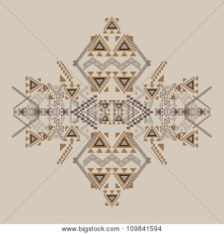 Vector Tribal Decorative Pattern For Design And Fashion. Aztec Ornamental Style