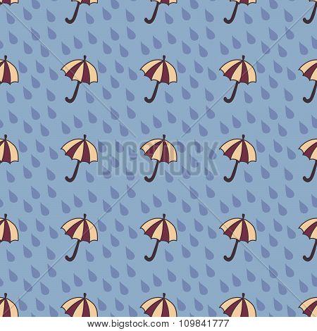 Umbrella and Raindrops