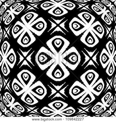 Design Warped Monochrome Flower Pattern