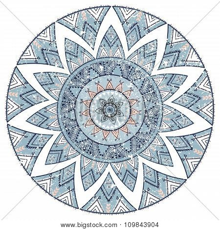 Mandala, Ornamental Round Pattern. Tribal, Ethnic, Bohemian, Islam, Indian Style