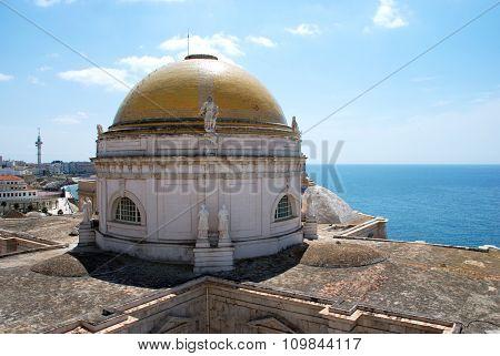Cadiz Cathedral dome.