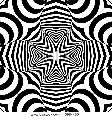 Design Symmetric Monochrome Illusion Background
