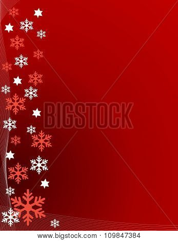 Abstract snowflakes Background