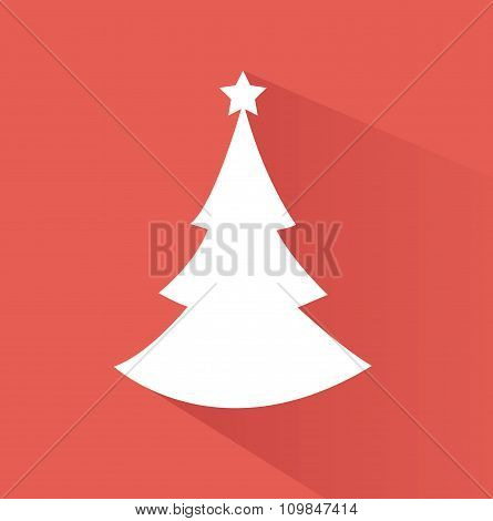 Abstract christmas tree vector illustration with colored background