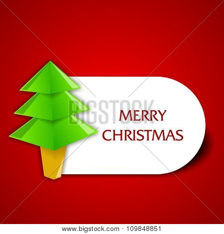 Vector simplistic Christmas tree sticker