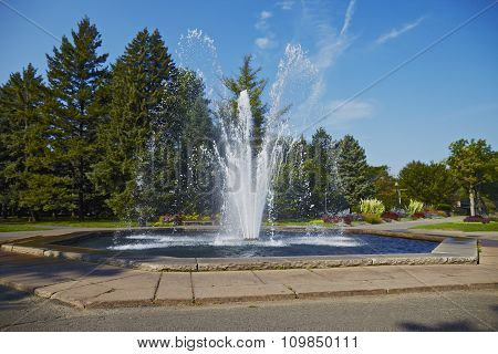 Fountain Spurt Of Water