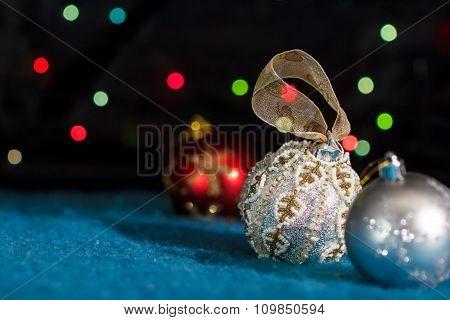 Set of Christmas tree decorations