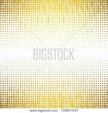 Banner Abstract Gold Background Halftone