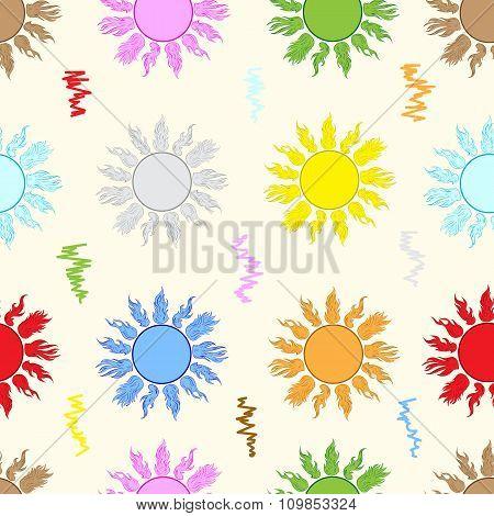 Seamless color sun