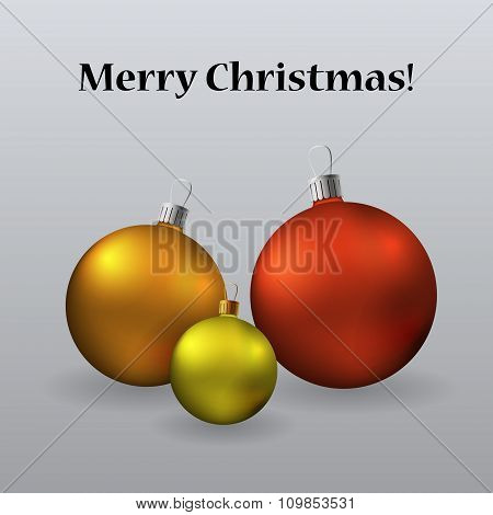 Cristmas Card With Christmas Tree Toys Ant Text