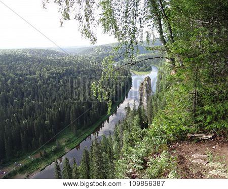 Rock Usvinskie Poles. Perm region. Russia.