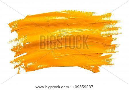 Paint Brush Stroke Texture Ochre Watercolor