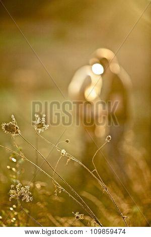 Pretty Couple In Meadow