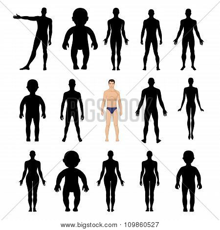 Human Silhouettes Template Figure