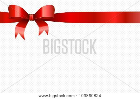 Background red circles pattern with bow vector