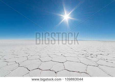 Backlight In The Majestic Uyuni Salt Flat, Bolivia