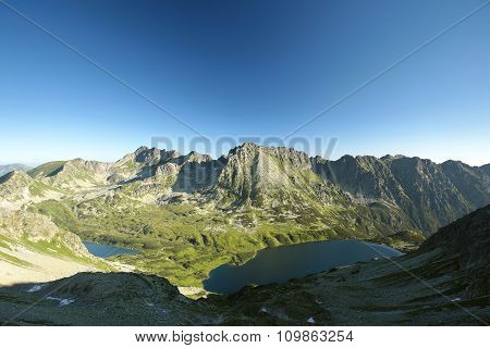 Tatra Mountains over the valley