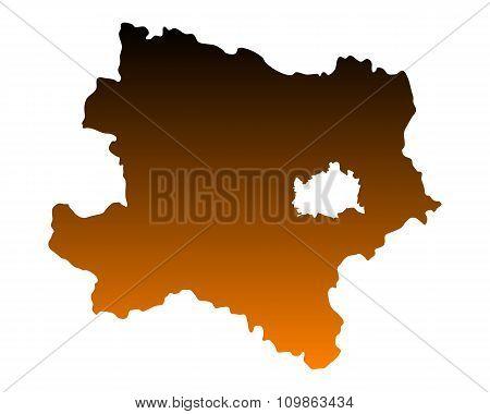 Map Of Lower Austria