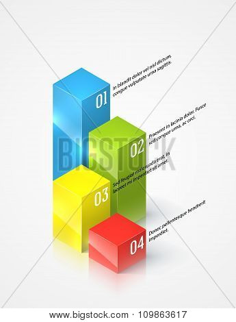 Colored graphs infographic template