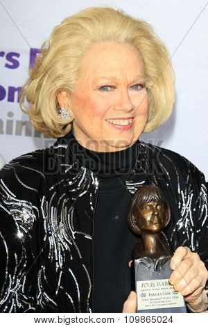 LOS ANGELES - JUN 8:  Barbara Cook at the 2014 Tony Award Viewing Party at the Taglyan Cultural Complex  on June 8, 2014 in Los Angeles, CA