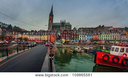 Cobh In The Evening In Ireland