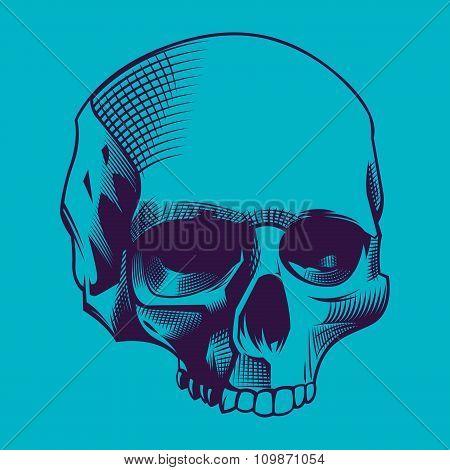 skull engrave