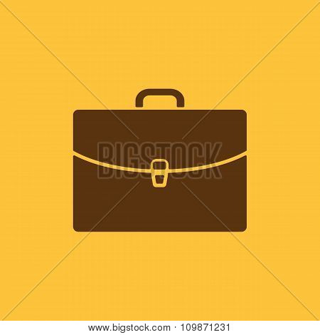 The briefcase icon. Portfolio symbol. Flat