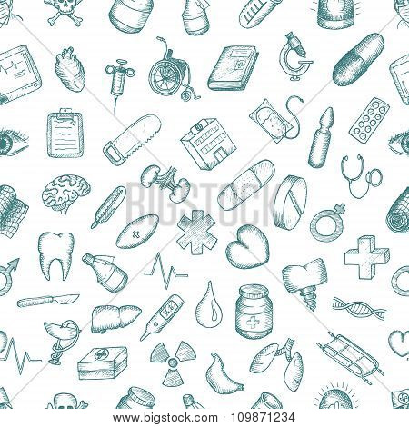 Set of medical icons.