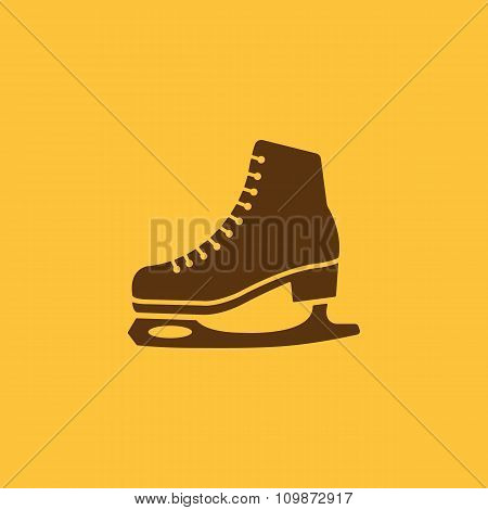 The skates icon. Figure Skates symbol. Flat