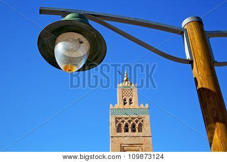 History In Maroc Africa Street Lamp   Sky