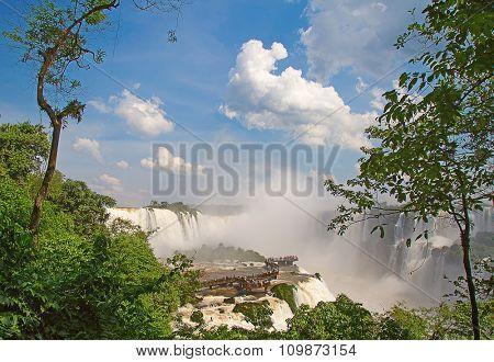 Famous Iguazu fallson the border between Argentina and Brasil