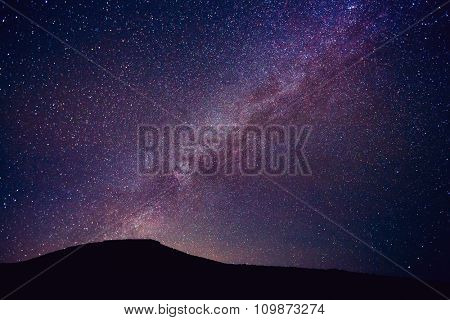 Stars in the Night Sky, Incredible Starry Night Sky with Galaxy Nebula