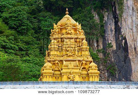Famous Batu Caves shrine near Kuala Lumpur, Malaysia
