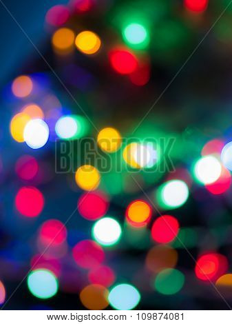 Rainbow bokeh Christmas lights