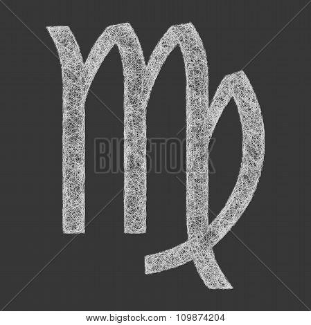 Virgo zodiac sign line art