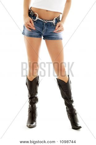 Cowboy Boots And Denim Shorts #2
