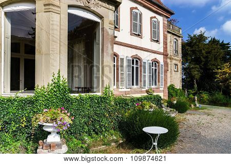 Old Classic French Manor View