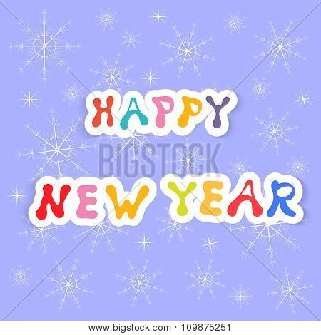 Happy New Year . Greeting Card Vector Illustration .