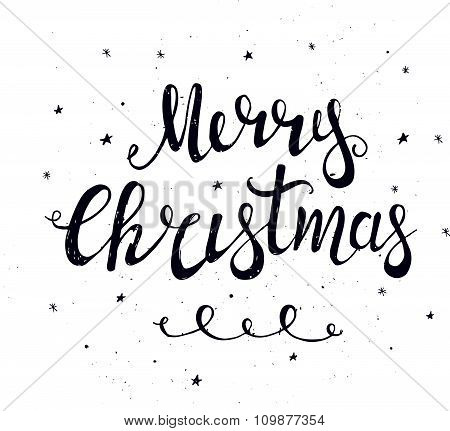 Merry Christmas Typographical Background