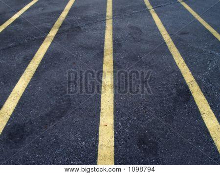 Parkplatz-Linien