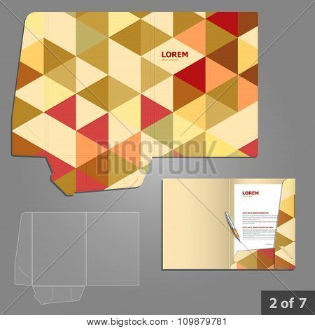 Folder Template Design For Company