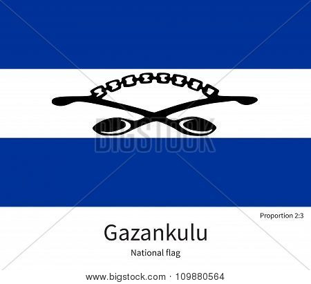 National flag of Gazankulu with correct proportions, element, colors