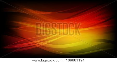 Abstract waves orange background