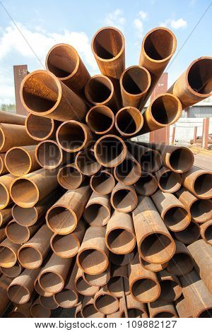 Stack of pipes