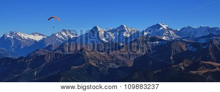 Famous Mountains Eiger, Monch And Jungfrau