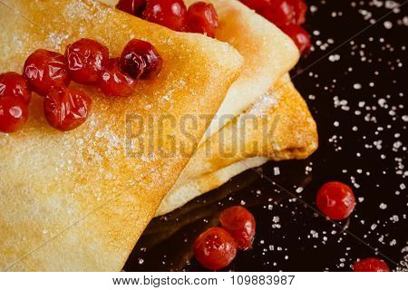 Pancakes With Lingonberry