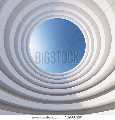 Abstract 3d architecture levelled tower background.